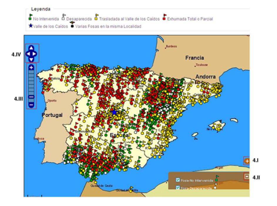 O mapa de fosas de vítimas do franquismo incluía os enterramentos trasladados a Cuelgamuros.