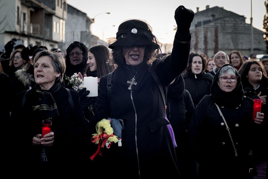 Manifestación contra o peche da sala de partos en Verín. Fotos: Brais Lorenzo.